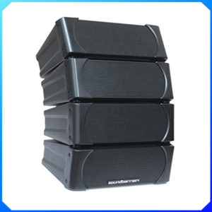 Soundbarrier SB-LA45 4 x 5″ Two Way Full Range Mini ABS Line Array Cluster – Black
